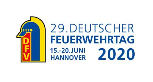 Logo des 29. Deutschen Feuerwehrtages. Grafik: DFV