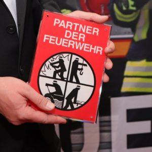 Förderschild Partner der Feuerwehr